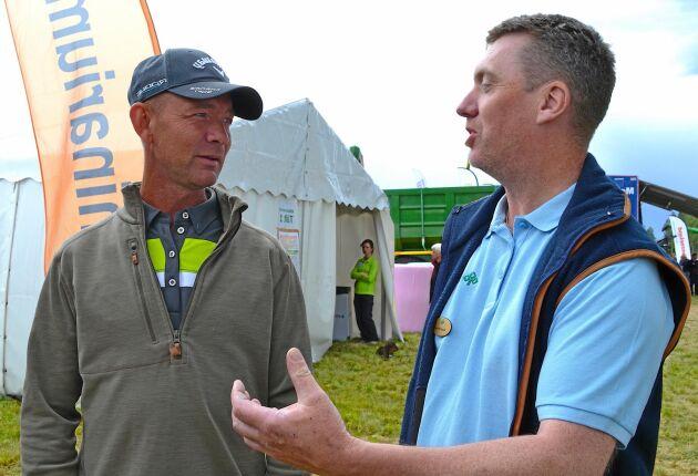 Peter Helén och Tomas Olsson jämför olika produktionsinriktningar för får.