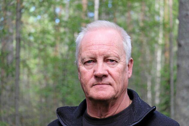 Bo-Göran Stenman, ägare av skogen i Änok.