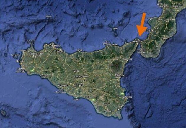 De två maffiafamiljerna i närheten av Messina (längst upp i öns högra hörn) hade efter många års krig slutit fred med varandra.