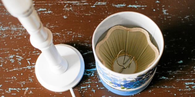 Ge gamla plåtburkar nytt liv: Enkel lampa till barnrummet
