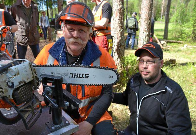 I söndags åkte Svante Hansson till Kalifornien för att utbilda i säkert motorsågsarbete.