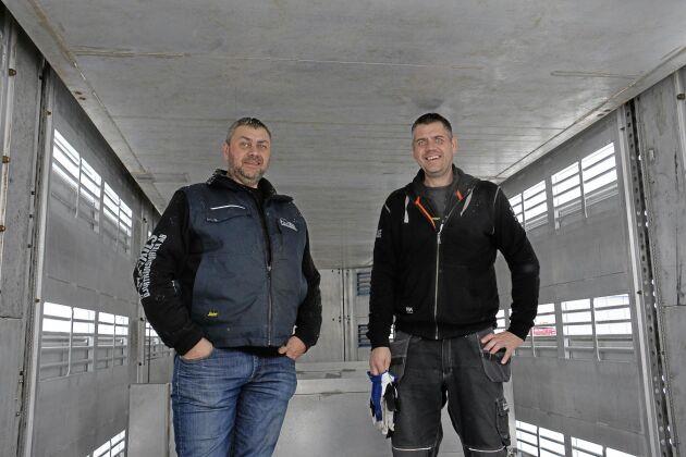 Peter och Tomas Lantz, årets djurtransportörer utsedda av HK Scan Agri 2012 och 2018.