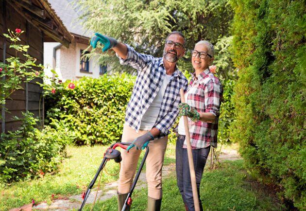Jo, gräsklippning och annat trädgårdsarbete är också träning. Dessutom kan det göra dig lycklig.