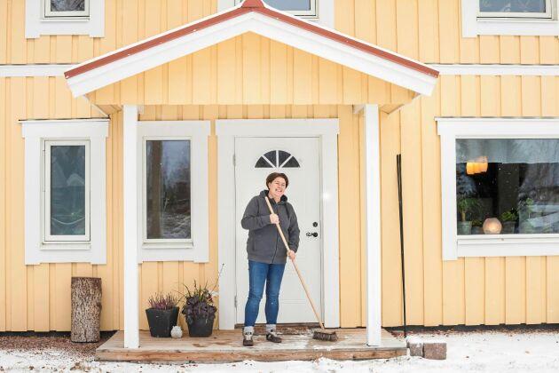 Kristine Markussen ritade och byggde sitt hus i Matfors utifrån en 200 år gammal lada.