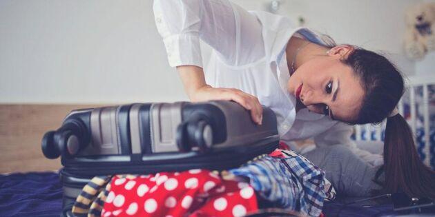 Superknepet när du packar resväskan – så får du plats för allt!