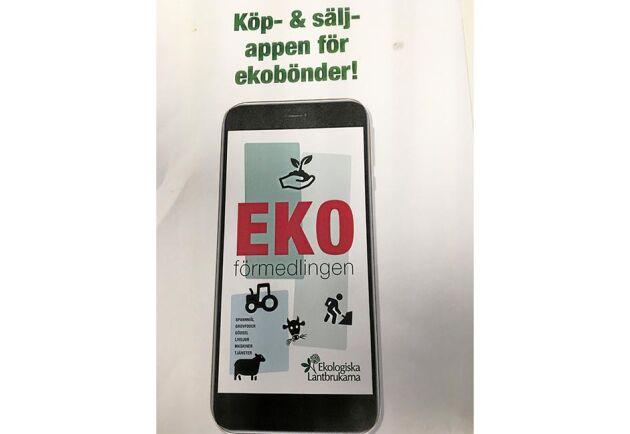 Ekoförmedlingen är namnet på en ny app där ekologiska lantbruksföretagare kan annonsera egna varor och tjänster.