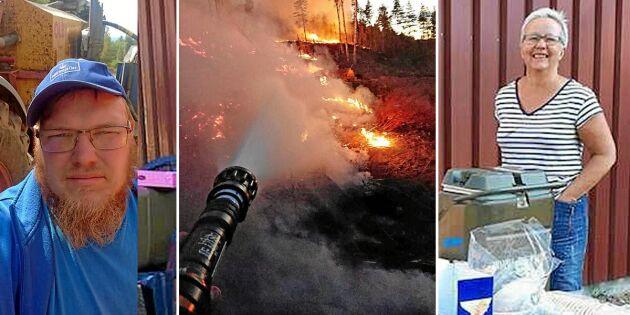 De hjälper till i brandkatastrofen – hela bygden ställer upp