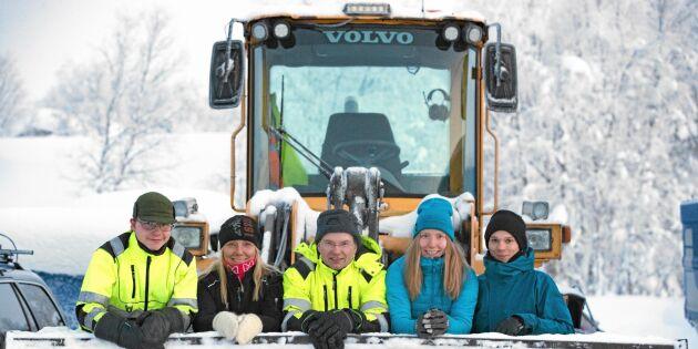 Familjen Fjällborg sköter alla transporter i byn