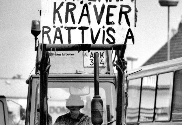 Bondedemonstration i Skåne maj 1985.