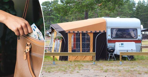 Förra året anmäldes uppåt 900 stölder på stränder i anslutning till campingplatser, enligt Brå.