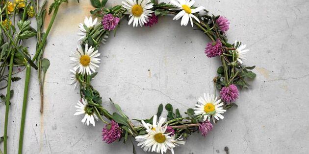 Bind en fin blomkrans i bara 5 steg!