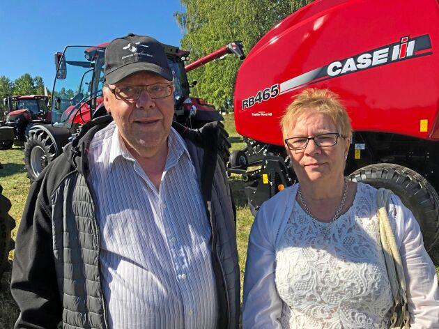 Ronny och Lillemor Persson, som bor strax utanför Edsbyn i Hälsingland, var förstagångsbesökare på Brunnby.