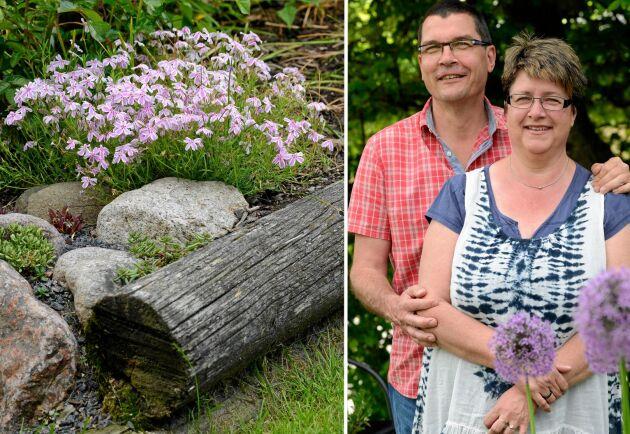 Sedan 2007 har Mikael och Ingela totalt förvandlat sin trädgård genom att skapa allting tillsammans.