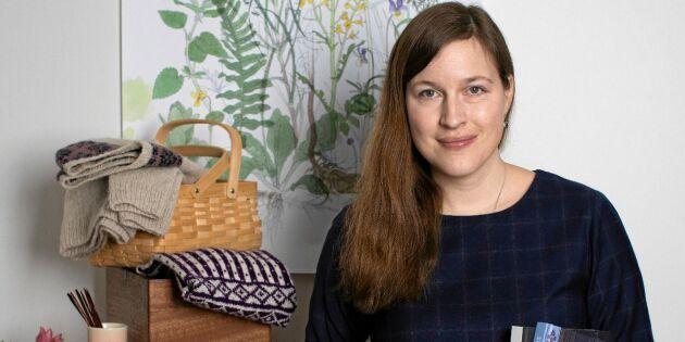 Maja stickar nytt med gamla svenska mönster – förvandlade hobby till jobb