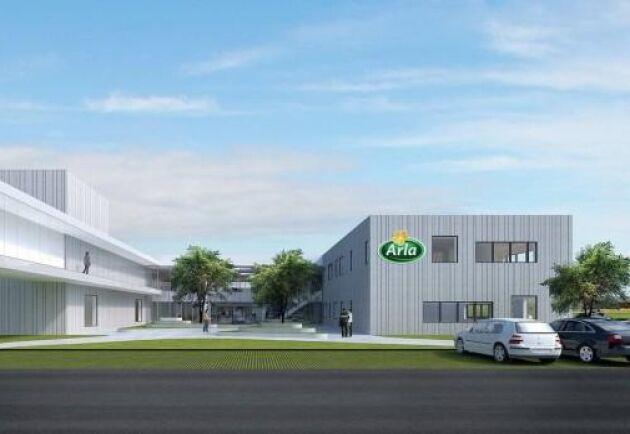 Skiss på Arlas nya innovationscenter.