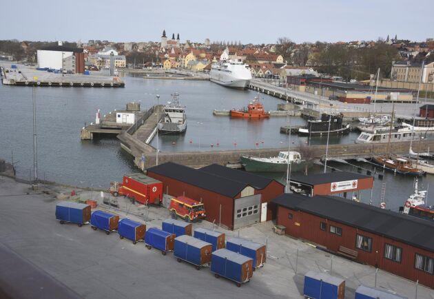 Visby hamn. Arkivbild.