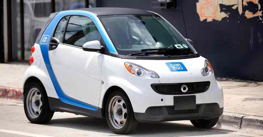 Car2go är en en ny sorts biluthyrning som än så länge bara finns i större städer.