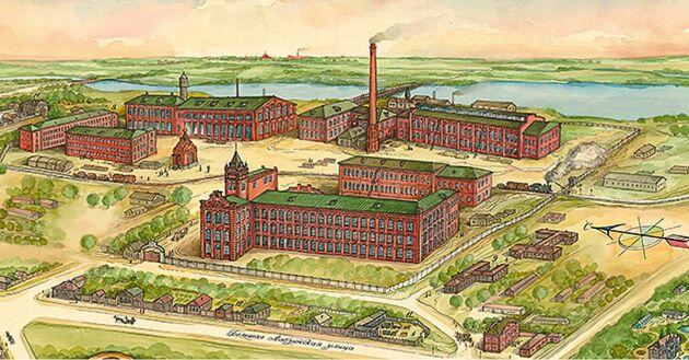 Fabriken Pavlovo Posad Shawl Manufactory startades 1795 av en bonde som tillverkade sjalar på sin vind.