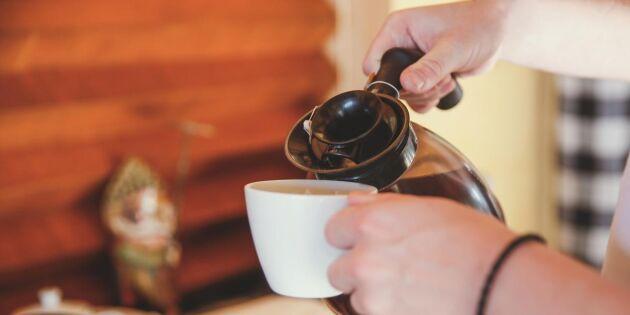 Det okända matsvinnet: Var tredje kopp kaffe slängs i slasken