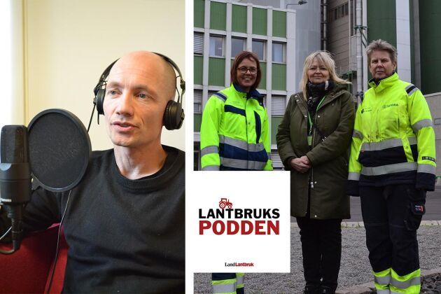 Designern Erik Lindvall jobbar med råvara från skogen. Land Lantbruks reporter Gunilla Ander besöker dessutom Södra Cells anläggning i Mörrum.