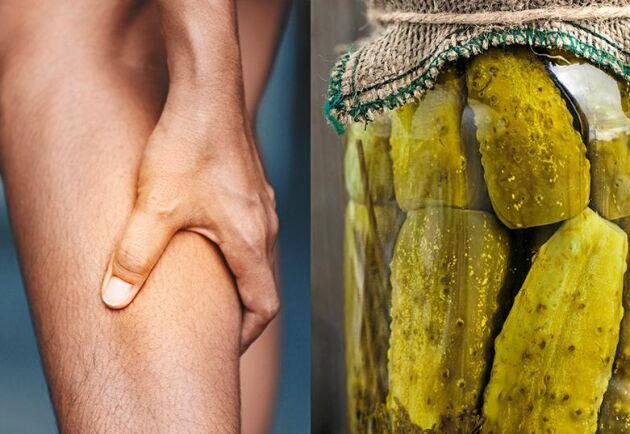 Häll inte ut gurkspadet i vasken, det kan lindra mot kramp!