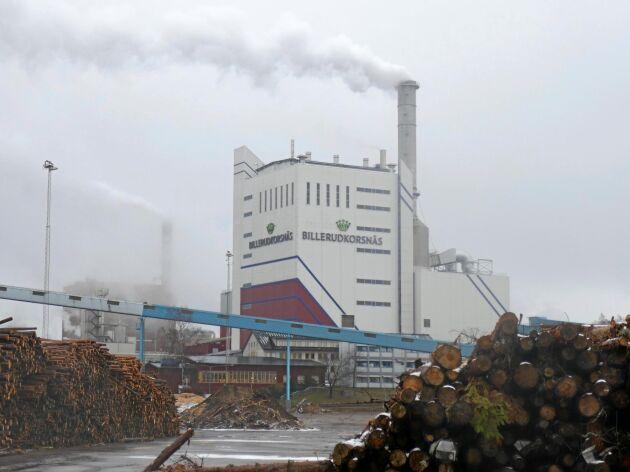 Billerud Korsnäs fabrik på Gruvön utanför Gävle.
