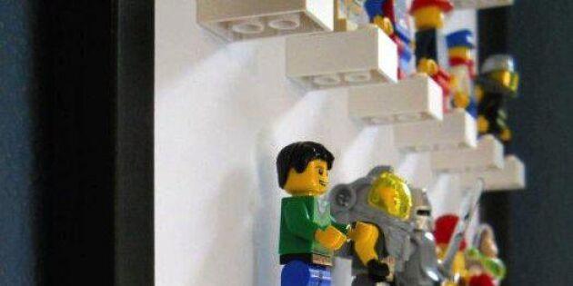 Lego-gubbar som konst