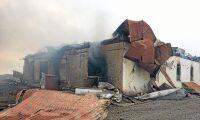 Storbrand på gård - 1 000 grisar brann inne
