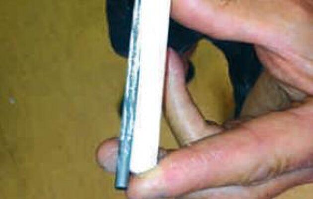 Se till att ha rätt diameter på filen. Är den för grov eller för smal får man felaktig stötvinkel på skärtänderna. –Ett tips är att löpande krita en ny fil med en vanlig tavelkrita. Då ramlar järnfilspånet bort och filen håller mycket längre, säger Dan Månsson.