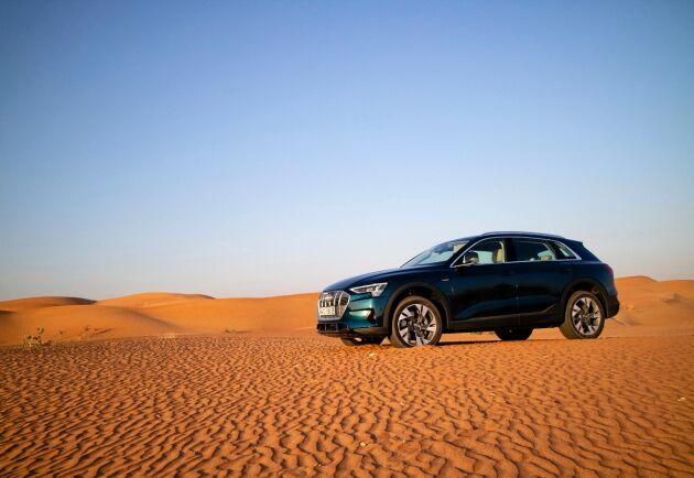 Cirka 700 svenskar har hittills lagt 20000 kronor i deposition för att kunna bli ägare av en Audi e-tron. Bilen kommer till Sverige i början av året.