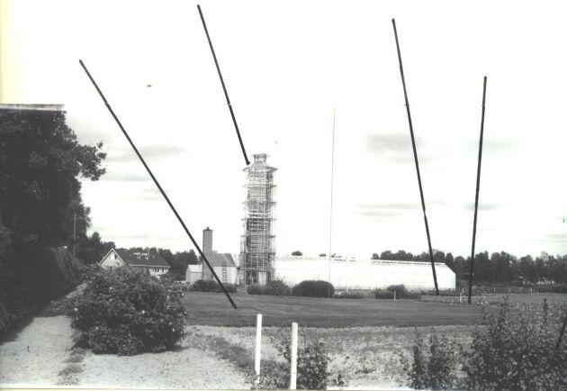 Gamal bild av tornväxthus.