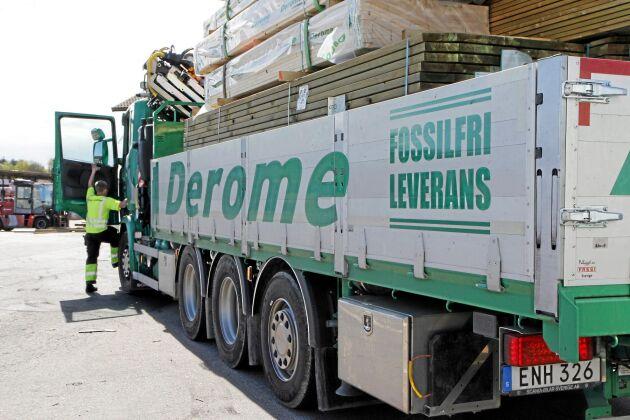 Satsningen på södra Sverige innebär också att Deromes egna åkeri utökas med 10 kranbilar som ska cirkulera med leveranser i Skåne.