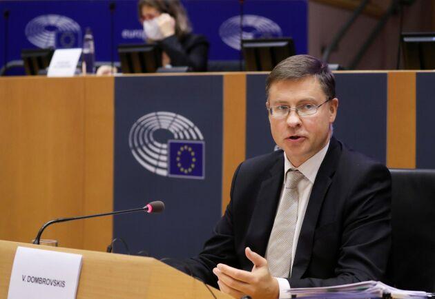 EU:s handelskommissionär Valdis Dombrovskis.