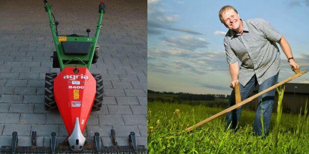 Klippa eller slå gräset? Se filmen som visar vad som går fortast