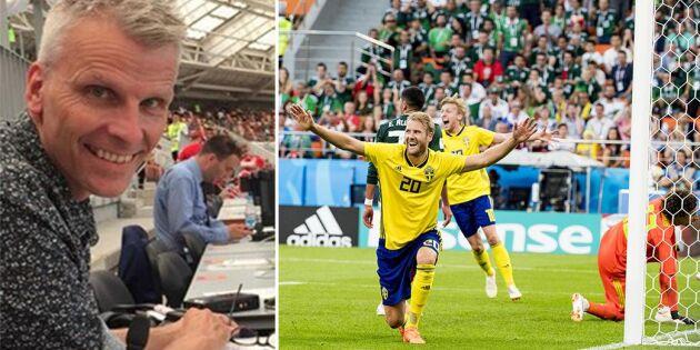 Radiokommentatorns VM-poesi får hiss – och diss