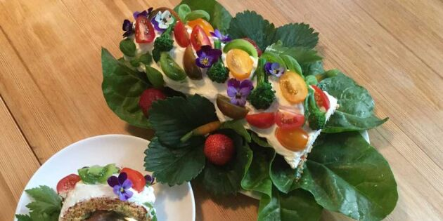 Härlig grönsaksrulltårta! Här är trädgårdsmästarens drömrecept