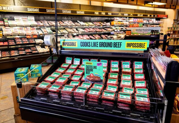 Impossible Foods säljer i dag redan nötköttssubstitut i USA. Nu vill de ta sig in på den kinesiska marknaden med ett fläsksubstitut. Arkivbild.
