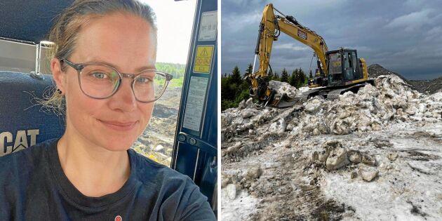 Ericas sommarjobb: Att gräva bort snömassorna!