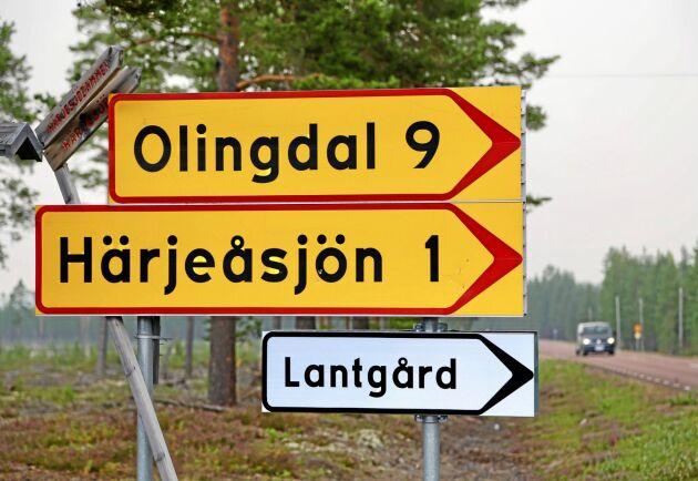 Räddningstjänst beräknade att branden skulle nå Olingdal mellan fyra och fem på eftermiddagen.