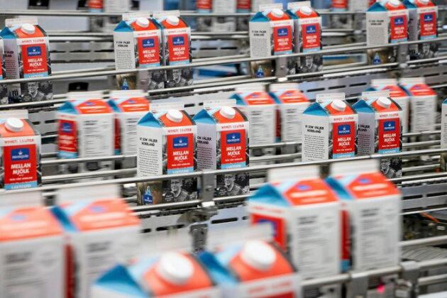 Ny förpackningsmaskin hos Norrmejerier i Umeå.