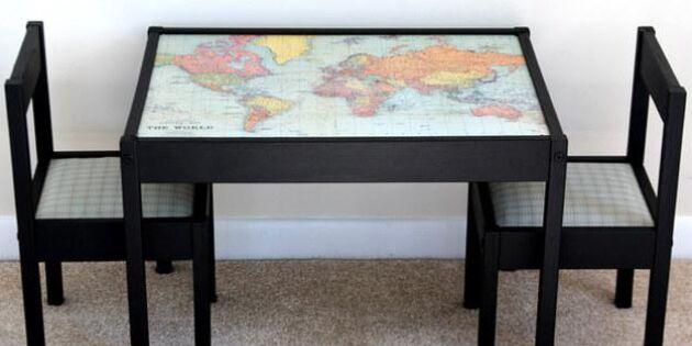Piffa upp barnbordet med en världskarta!