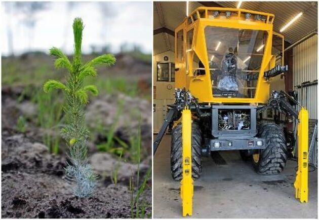 Första bilden på Plantma X, en ny planteringsmaskin som utvecklas av Grangärde Konsult & Innovation i samarbete med Sveaskog och Svenska Skogsplantor.