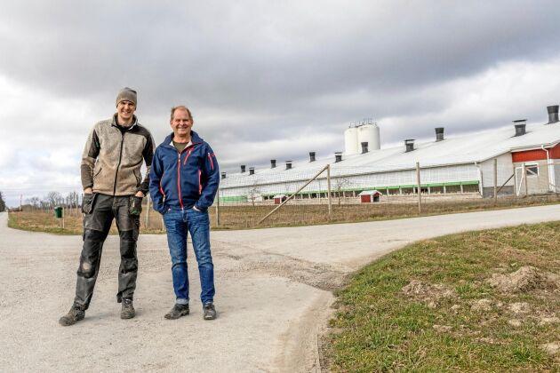 Torbjörn Hansson har hönsgård och ska lämna över till brorsonen Tobias Hansson.