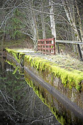 Den nedre dammen vid Lilla Älgsjön byggdes av morän och tätades med slaggsten. Någon gång på 1900-talet tätades den på uppströmssidan med betong. Vid utskovet består dammen av kraftigt huggen granit.