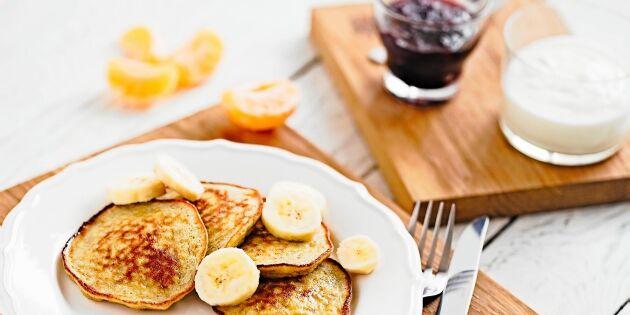 Bananpannkakor till frukost eller mellanmål
