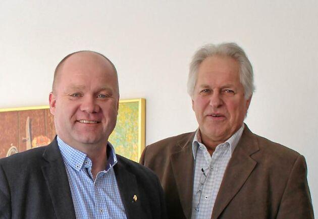 Magnus Lindberg, mejerichef på Arla Gefleortens och Thomas Lundgren, ordförande.