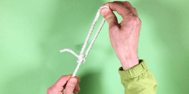 Bra knop att kunna - pålstek ger en fast och pålitlig ögla