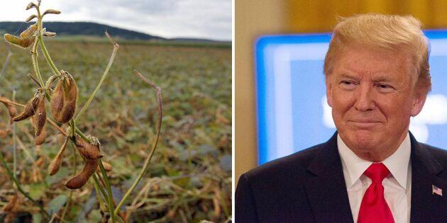 Trump utlovar miljardstöd till USA-bönder