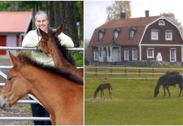 Carina Dahling Satrell, uppfödare och hingsthållare på Skråmsta stuteri utanför Stockholm, är en av initiativtagarna till webbsändningen.