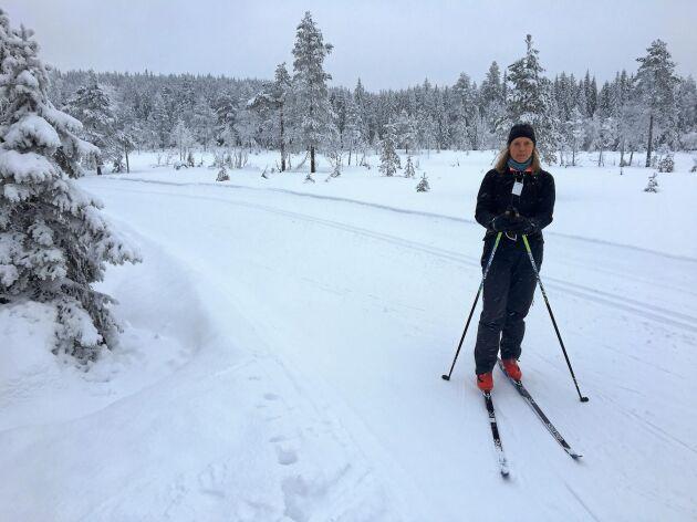 Den värmlänska pärlan Långberget, inte långt från Sysslebäck, ligger över 600 meter över havet och har ofta bra med snö.